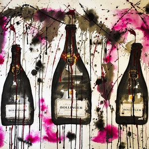 (CreativeWork) Bollinger Trio II by Leith Kennedy. mixed-media. Shop online at Bluethumb.