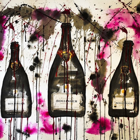(CreativeWork) Bollinger Trio II by Leith Kennedy. Mixed Media. Shop online at Bluethumb.