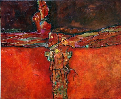 (CreativeWork) Bejewelled by Pam Altschwager. mixed-media. Shop online at Bluethumb.