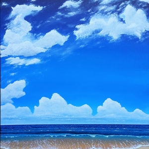 (CreativeWork) Blue Serenity  by Steve Perryman. arcylic-painting. Shop online at Bluethumb.