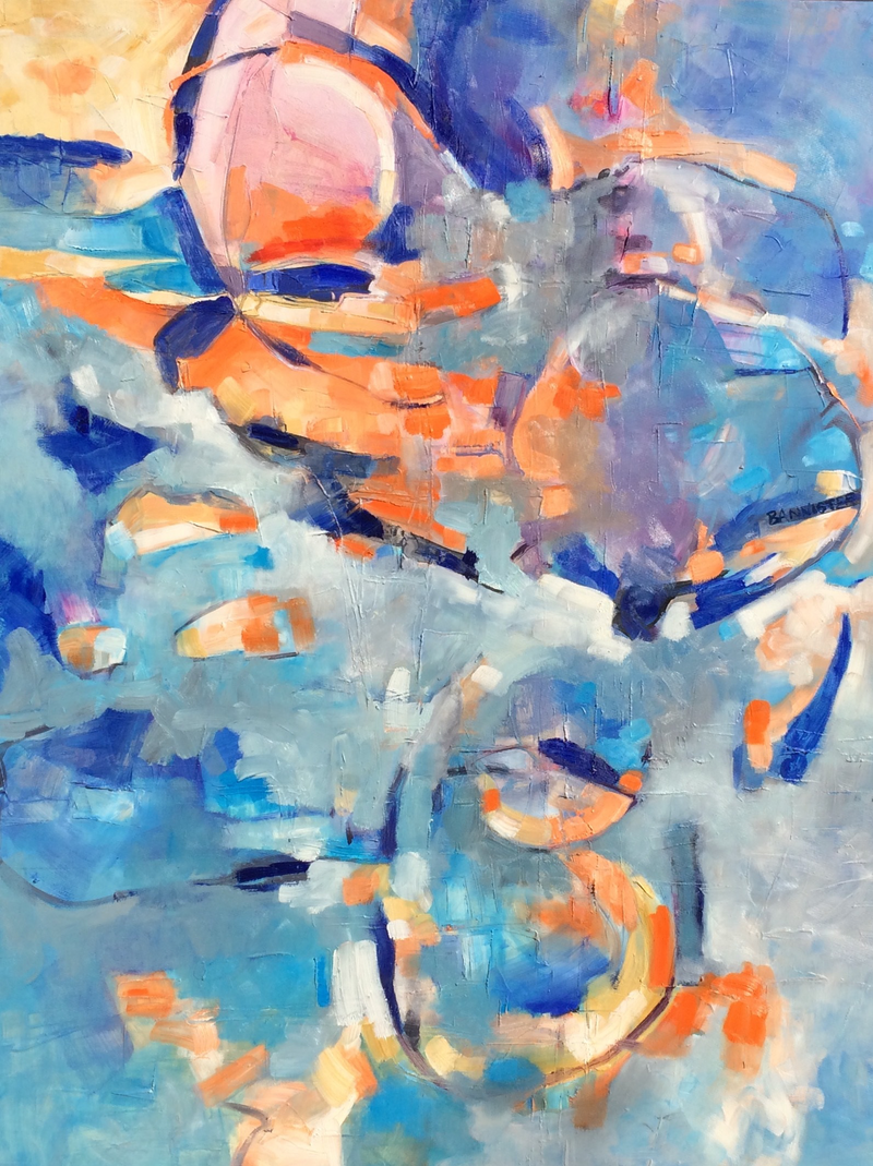 (CreativeWork) On reflection  by sue bannister. Oil Paint. Shop online at Bluethumb.