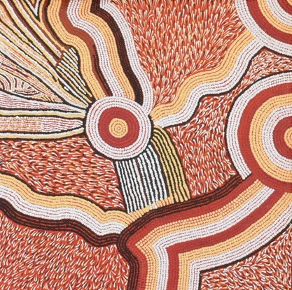 (CreativeWork) Papulankutja Country, 16-371 by Janet Forbes. Acrylic Paint. Shop online at Bluethumb.