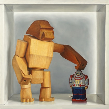(CreativeWork) Kong and Co by Daevid Anderson. oil-painting. Shop online at Bluethumb.