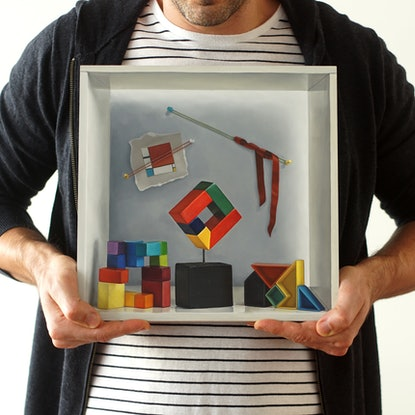 (CreativeWork) Colour Theory by Daevid Anderson. Oil. Shop online at Bluethumb.