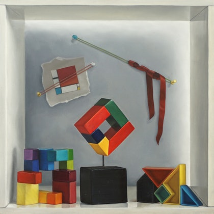 (CreativeWork) Colour Theory by Daevid Anderson. oil-painting. Shop online at Bluethumb.