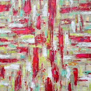 (CreativeWork) CBD RED by Nellie Zimmerman. arcylic-painting. Shop online at Bluethumb.