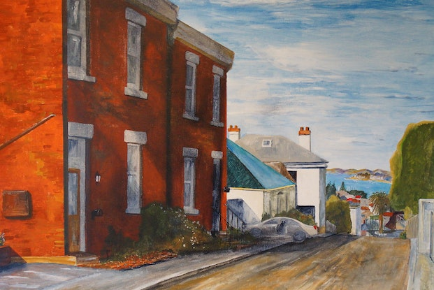 (CreativeWork) Star Street by Christopher Johnston. Acrylic Paint. Shop online at Bluethumb.