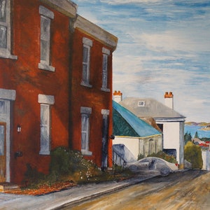 (CreativeWork) Star Street by Christopher Johnston. acrylic-painting. Shop online at Bluethumb.