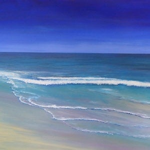 (CreativeWork) At The Shore 122x76cm by Di Parsons. arcylic-painting. Shop online at Bluethumb.