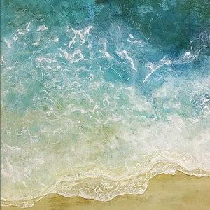 (CreativeWork) Deep Sea to Shore 1 by Treena Seymour. mixed-media. Shop online at Bluethumb.
