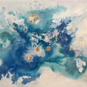 (CreativeWork) Spring by Jackie Peach. Acrylic Paint. Shop online at Bluethumb.