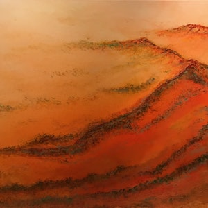 (CreativeWork) Sweeping Plains by Jackie Peach. arcylic-painting. Shop online at Bluethumb.
