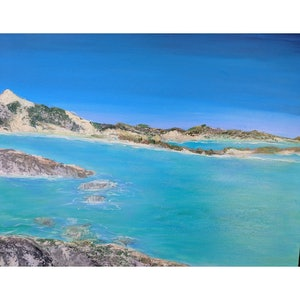 (CreativeWork) Lucky Bay by Laura Maka-Lisi. arcylic-painting. Shop online at Bluethumb.