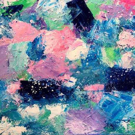 (CreativeWork) Ocean Sparkle by Anna Pontikis. Acrylic Paint. Shop online at Bluethumb.