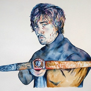 (CreativeWork) Tyrion by Rebecca Read. watercolour. Shop online at Bluethumb.
