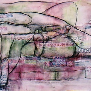 (CreativeWork) BARE NECESSITIES by Chris Rowe. mixed-media. Shop online at Bluethumb.