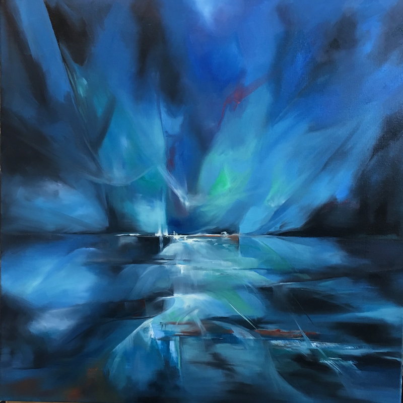 (CreativeWork) blue passion by maria radun. oil-painting. Shop online at Bluethumb.