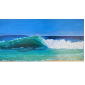 (CreativeWork) The Wave by Laura Maka-Lisi. arcylic-painting. Shop online at Bluethumb.