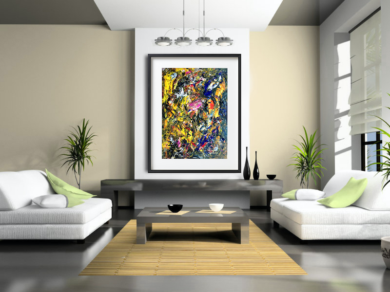 (CreativeWork) Through Chaos by Estelle Asmodelle. Acrylic Paint. Shop online at Bluethumb.