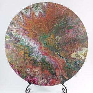 (CreativeWork) Turning of the Seasons by Rhana Griffin. mixed-media. Shop online at Bluethumb.