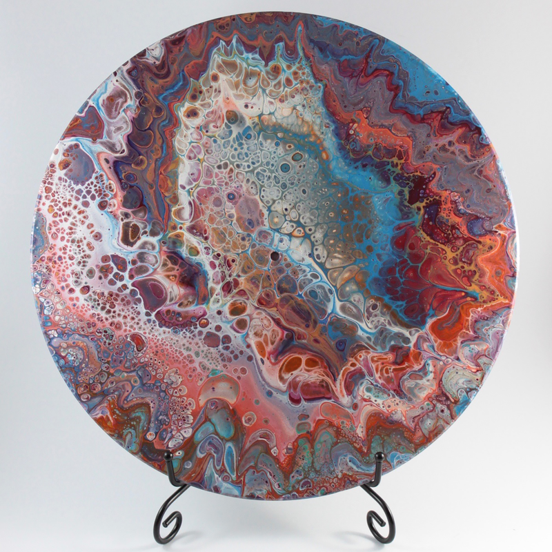 (CreativeWork) Nebula by Rhana Griffin. mixed-media. Shop online at Bluethumb.