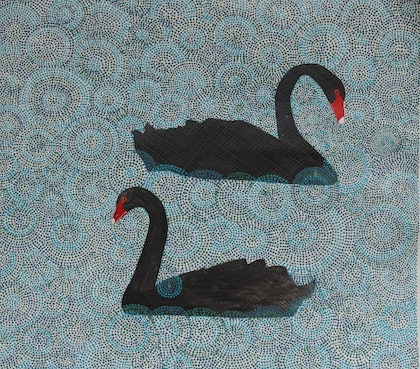 (CreativeWork) Mates for Life  by wendy Owen. arcylic-painting. Shop online at Bluethumb.