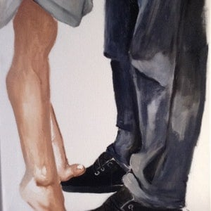 (CreativeWork) Dance with me by Leah Dodd. arcylic-painting. Shop online at Bluethumb.
