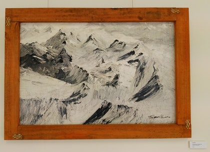 (CreativeWork) the dancing mountains 1 by james hou. arcylic-painting. Shop online at Bluethumb.
