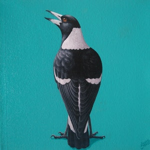 (CreativeWork) MAGPIE #3 by Linda Joyce. arcylic-painting. Shop online at Bluethumb.