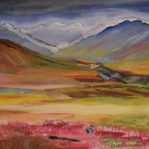 (CreativeWork) Alaskan-Mountain Limited Edition Giclee Print 1/100 by Malcolm Hornsby. print. Shop online at Bluethumb.