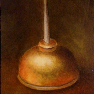 (CreativeWork) Still Life Sketch with Oil Can by Bern Ferraz. oil-painting. Shop online at Bluethumb.