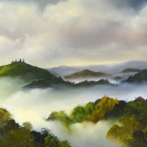 (CreativeWork) My View (Or the Way I See It) by Elaine Green. oil-painting. Shop online at Bluethumb.