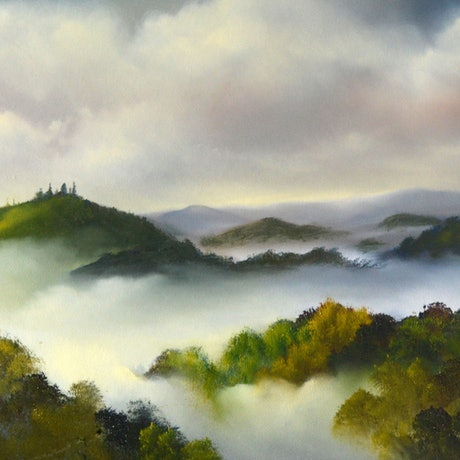 (CreativeWork) My View (Or the Way I See It) by Elaine Green. Oil Paint. Shop online at Bluethumb.