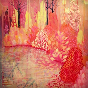(CreativeWork) Reflections  by Leah Doeland. arcylic-painting. Shop online at Bluethumb.