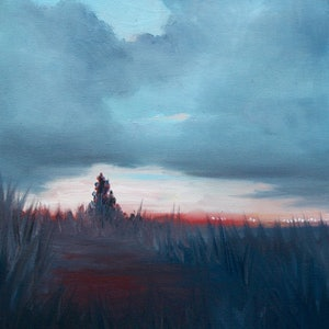 (CreativeWork) Landscape study 1 by Llael McDonald. oil-painting. Shop online at Bluethumb.
