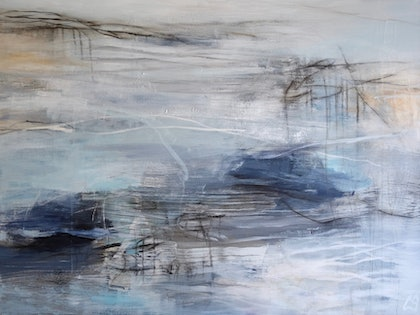(CreativeWork) You left me somewhere by Christine Scurr. arcylic-painting. Shop online at Bluethumb.
