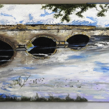 (CreativeWork) Bridge in Tasmania by GLENN SPECK. Oil Paint. Shop online at Bluethumb.