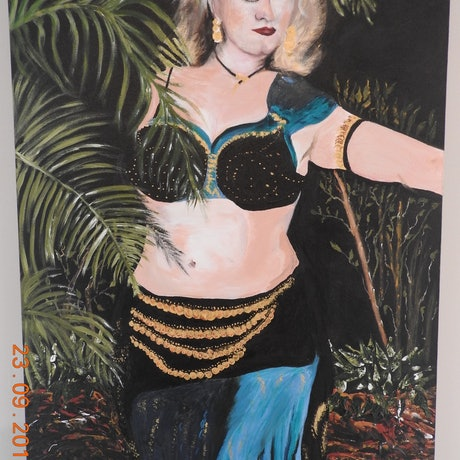 (CreativeWork) Belly Dancer by GLENN SPECK. Oil Paint. Shop online at Bluethumb.