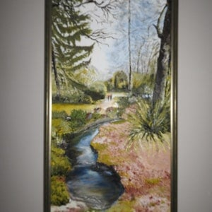 (CreativeWork) Garden In Essex--FRAMED by GLENN SPECK. oil-painting. Shop online at Bluethumb.
