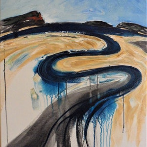 (CreativeWork) Point Perpendicular by Susan Curtin. mixed-media. Shop online at Bluethumb.