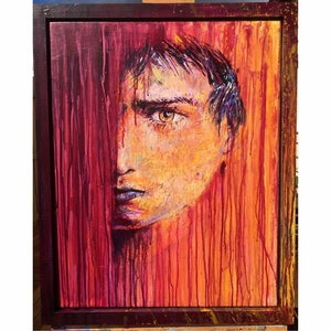 (CreativeWork) Boy by RNNY LDRS. arcylic-painting. Shop online at Bluethumb.