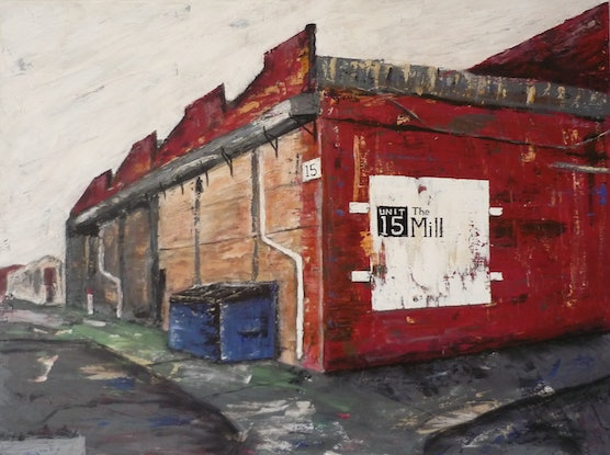 (CreativeWork) The Mill by Jarrod Carter. Acrylic Paint. Shop online at Bluethumb.