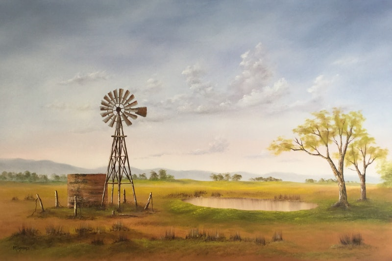 Old Outback Windmill By Matt Symons