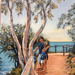 (CreativeWork) The Lookout Boiling Pot Noosa by Robyn Gray. arcylic-painting. Shop online at Bluethumb.