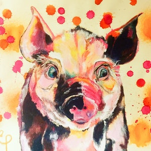 (CreativeWork) Penelope Pig.  by Erin Darmanin. other-media. Shop online at Bluethumb.