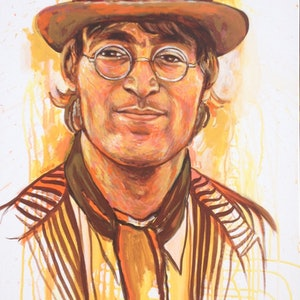 (CreativeWork) Lennon by Leigh Hooker. arcylic-painting. Shop online at Bluethumb.