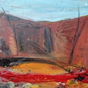 (CreativeWork) Outback Sketch 4 by William Holt. mixed-media. Shop online at Bluethumb.