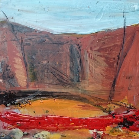 (CreativeWork) Outback Sketch 4 by William Holt. Mixed Media. Shop online at Bluethumb.