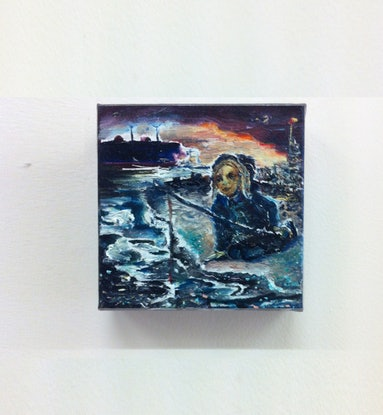 (CreativeWork) The Beach by Louise Campbell-Smith. Oil Paint. Shop online at Bluethumb.