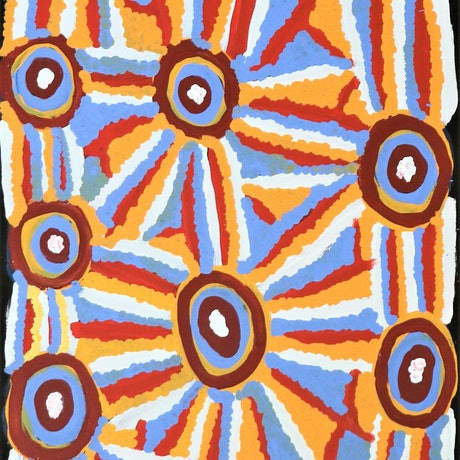 (CreativeWork) Kaltukatjara Rockholes, 17-130KA by Tjukupati James. Acrylic Paint. Shop online at Bluethumb.